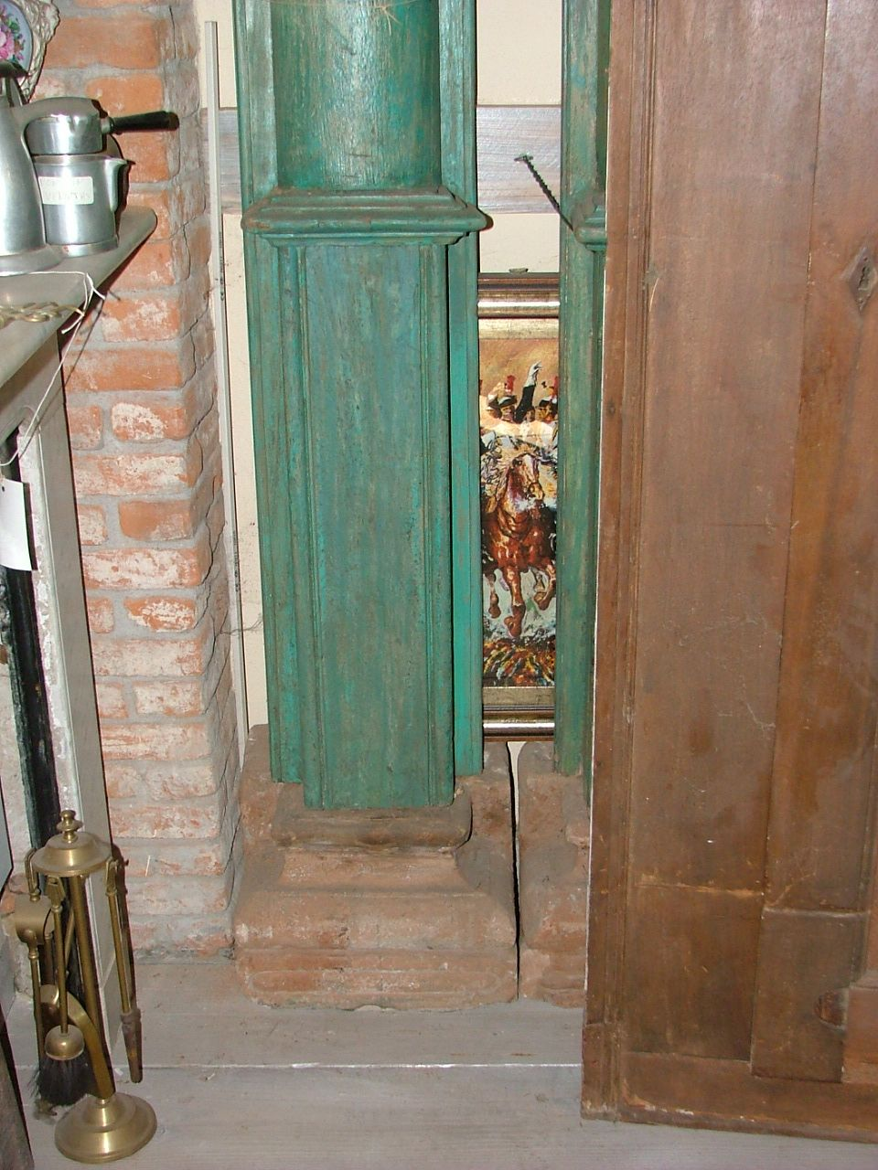 Colonne Portali - coppia colonne legno e pietra