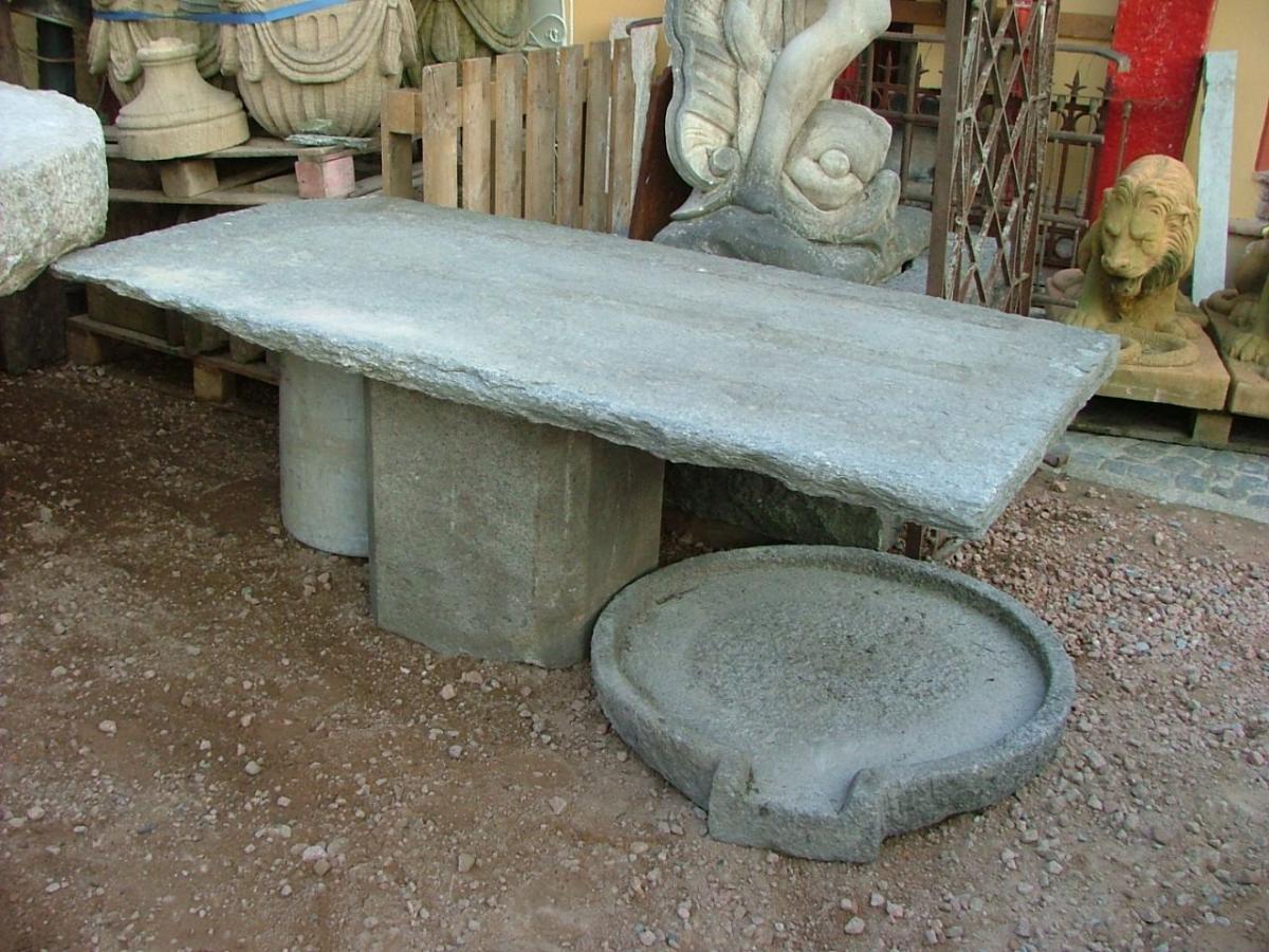 Tavoli e Sedie - balcone in pietra di Luserna con base x tavolo